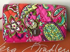 NWT Vera Bradley Turn lock Crossbody Purse Bag In Pink Swirls Rare!