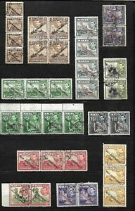 Malta, 1948 KGVI New Constitution, multiples selection used (M606)