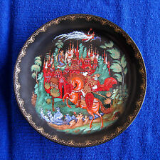 "TIANOX HAND PAINTED PLATE - RUSSIAN TALE ""RUSLAN and LUDMILLA"""