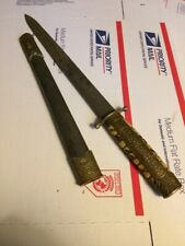 Wwii Chinese Military Officers Dagger Ww2 circa 1944 china Knife scarce antique