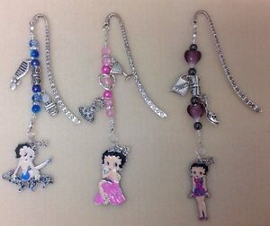 *Hand Crafted  BETTY BOOP Charmed  Beaded Bookmarks - Perfect & Unique Gift*