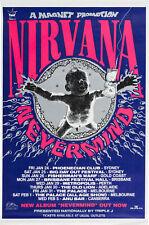 More details for nirvana 'nevermind' australian concert tour window poster 1992 - reprint