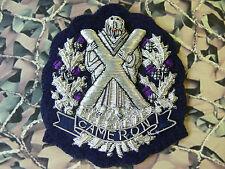 Cameron Highlanders Blazer Badge (Bullion) Version 1