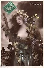 BE641 Carte Photo vintage card RPPC Femme woman R. Desprez nu sexy Reutlinger