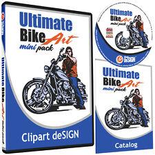 Motorcycle Biker Clipart Vinyl Cutter Plotter Vector Clip Art Cd