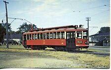 Ottawa Tram Trolley Car 650 Britannia Park Loop 1949 Canada postcard