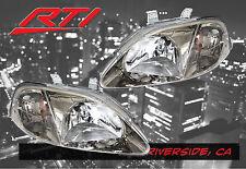 99-00 Honda Civic EK EM JDM Gun Metal Headlight Amber Reflector SI EX SiR LX DX