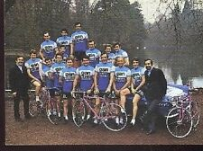 EQUIPE GAN MERCIER cyclisme card carte Equipe Ciclismo Raymond POULIDOR