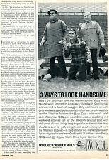 1960 Woolrich Woolen Mills Bush Gridiron & Popover Wool Coat Print Ad