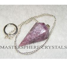Lepidolite Pendulum A Grade Crystal Gemstone Dowser 35mm x 20mm