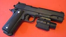 Quality Large Airsoft Spring Pistol P-378C with Tactical Flashlight
