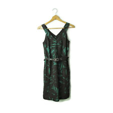 Banana Republic sz 0 sleeveless shift dress with belt brown green abstract XS