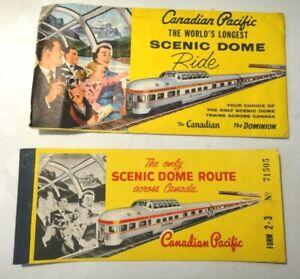 1961 BIGLIETTO FERROVIARIO TRENO - CANADIAN PACIFIC SCENIC DOME - RIDE