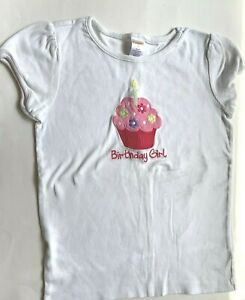 Gymboree Girls 8 Birthday Top Short Sleeve Shirt EUC