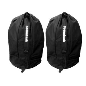 """Pair Universal Speaker Bags 15"""" Transit Carry Cases - Fits Most 15"""" Speakers!"""