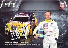Rickard Rydell signed Seat Sport Leon TDI WTCC postcard