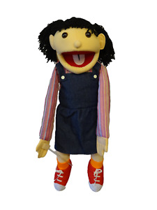"""girl puppet sarah 26"""" Vent,Educational.Moving mouth and arm rod"""