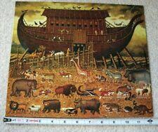 *New Large Charles Wysocki Noah'S Ark Arc Metal Tin Sign Bible Christian Vintage