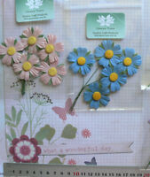 2 DAISY Sprays - 5 flowers each spray - Green Tara  Multi List GT D