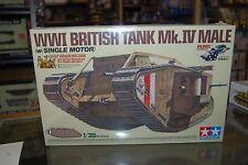 Tamiya 30057 1:35 WWI British Tank Mk. IV Male Motorized (runs)