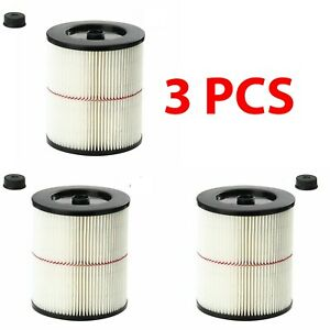 3 x Cartridge Filter for Shop Vac Craftsman 9-17816 Wet Dry Air Filter