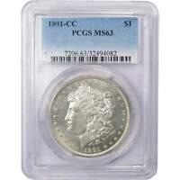 1891 CC $1 Morgan Silver Dollar Coin MS 63 PCGS
