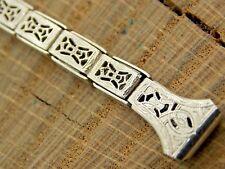 Sturdy Vintage NOS Unused Filigree Gold Filled Watch Band 9mm Expansion Bracelet