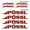 Kit completo 8 adesivi per camper Pössl AMARANTO loghi possl caravan roulotte