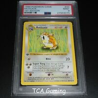 PSA 9 MINT Raticate 40/102 1ST EDITION Base Set SHADOWLESS Pokemon Card