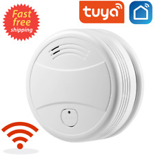 WiFi Smoke Detector Sensor Tuya Life App Firefighters Alarm Security