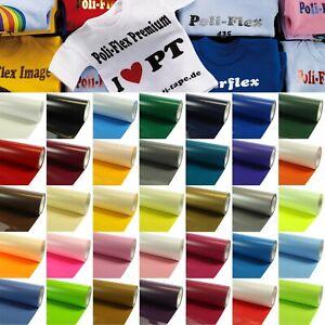 Flexfolie 18€/m² Poli Flex Folie Textilfolie Bügelfolie Poli-Flex Premium Plott