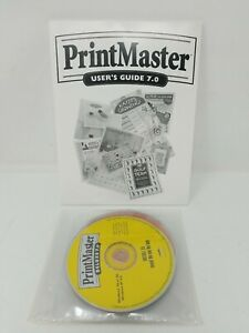 PrintMaster Deluxe  7.0 Software
