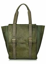 BIG BUDDHA Casper Haircalf Accent Shoulder Bag, Olive, One Size