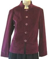 Talbots Jacket Stretch Womens Purple Collared Buttoned Lined Career Size 10