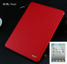 Top Quality genuine leather protective smart case Cover For iPad 2 3 4/mini/ Air
