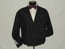 Kelly Country Australia men's Black tweed vintage waistcoat jacket size Small