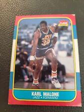 KARL MALONE 1986-87 FLEER JAZZ ROOKIE RC HOF NBA BASKETBALL #68
