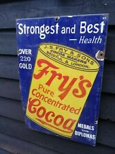 Frys enamel sign pure concentred cocoa Fry's cocoa enamel sign shop sign