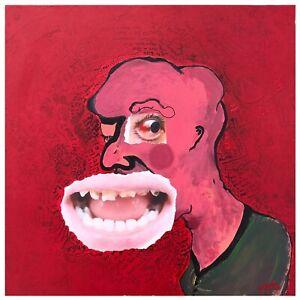 "BALLROOM PARANOIA - Original Signed Mixed Media Art - 19"" - Surrealism - CANVAS"