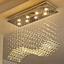 Moooni Wave Crystal Chandelier Lighting for Dining Room Raindrop Ceiling Lights