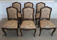 HENREDON 4 CENTURIES DINING CHAIRS, SET OF 6, OAK SIDE CHAIRS