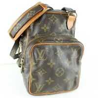 LOUIS VUITTON MINI AMAZON Crossbody Shoulder Bag Purse Monogram M45238 Brown