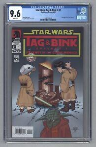 Star Wars Tag & Bink II #2 1st App Darth Plagueis Dark Horse Comics 2006 CGC 9.6
