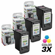 LD© Canon Reman CL241XL 3pk 5208B001RII Color HY Ink MG2120 MG2220 MG3120