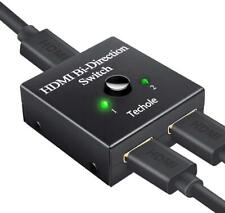 HDMI Switch - Techole HDMI Splitter Bidirectional 1 In 2 Out/2 Input 1 Output -