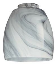 Westinghouse 8140900 - 2-1/4-Inch Handblown Charcoal Swirl Glass Shade