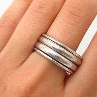 Vtg 925 Sterling Silver Rotating Men's Band Ring Size 10
