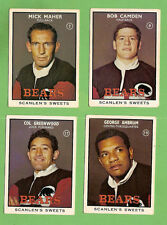 1968 SERIES 2 SCANLENS NORTH  SYDNEY   RUGBY LEAGUE TEAM CARDS, ALL 4 CARDS