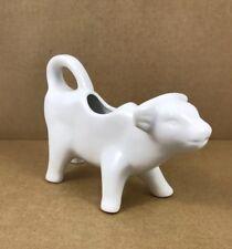 White Cow Calf ceramic Milk Creamer Pitcher Figurine Over and Back 7� X 5�