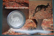 2000 silver Kangaroo Proof Coin  on card 1oz